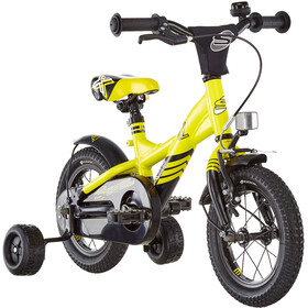 s'cool XXlite 12 alloy Kinder yellow/black matt